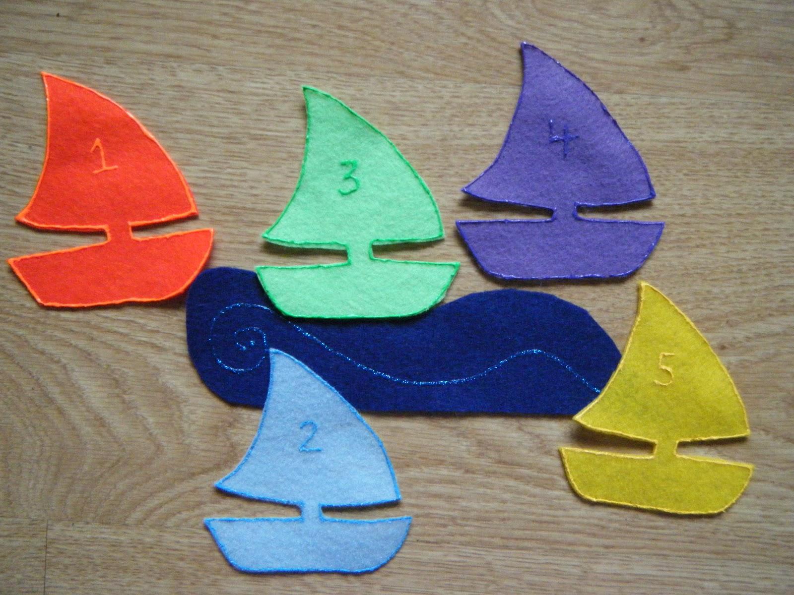 Felt Board Ideas Five Little Sailboats Felt Board Poem
