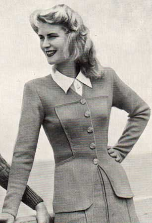 The Vintage Pattern Files: Free 1940's Knitting Pattern - Clarissa Jacket