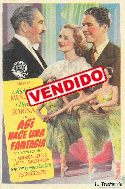 Así Nace una Fantasía - Programa de Cine - Adolphe Menjou - Vera Zorina