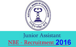 National Board of Examinations  Recruitment 2016