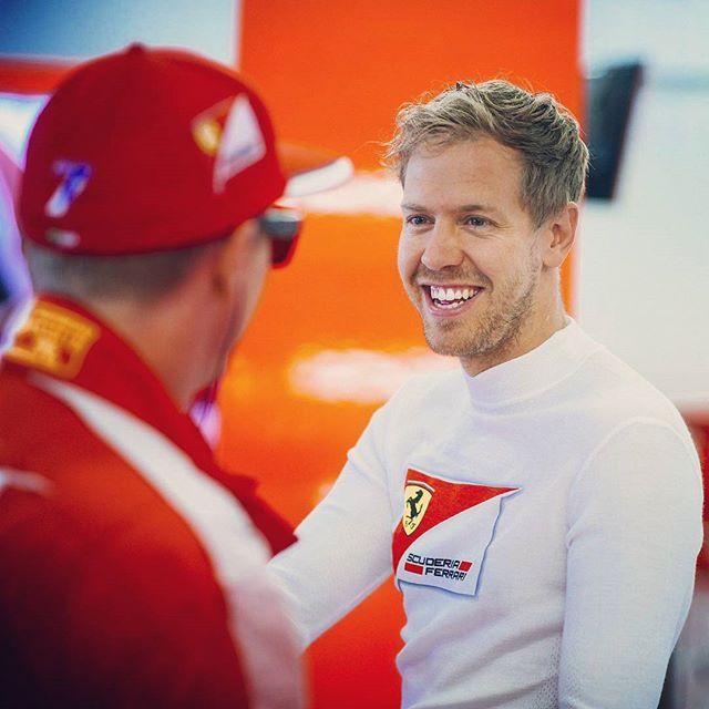 ec66b1b7b0 Sebastian Vettel sai em defesa do seu companheiro de equipe e amigo Kimi  Raikkonen