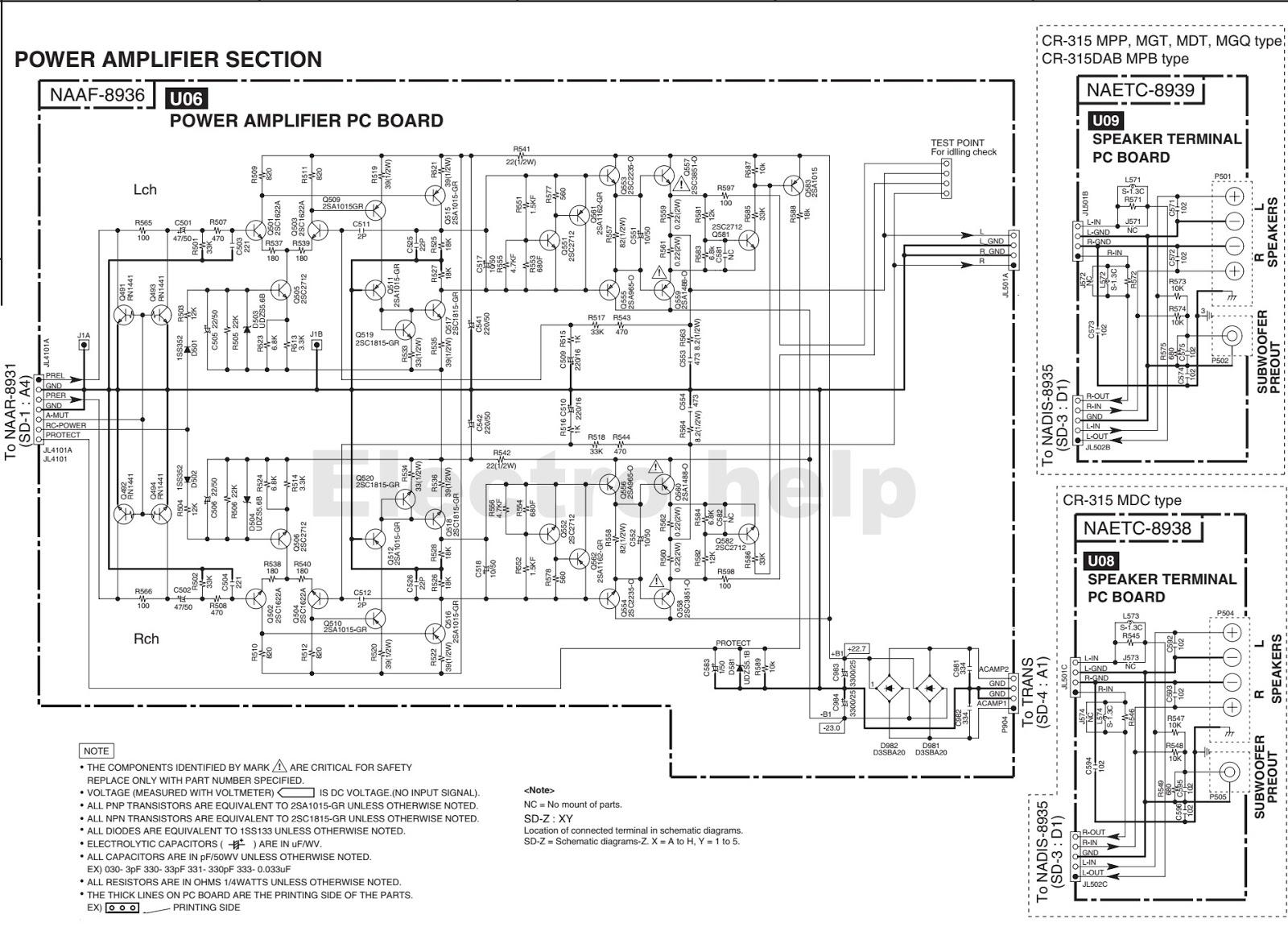 Av Receiver Wiring Diagram 2017 Toyota Hilux Trailer Onkyo Turntable Quad