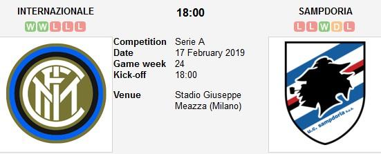 inter milan vs sampdoria live