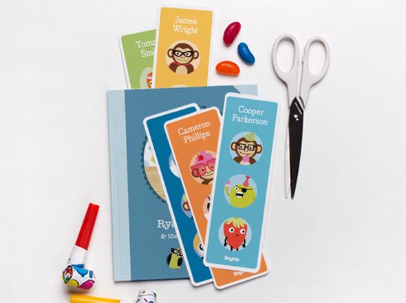 I love Kawaii Boys Bookmarks Printable