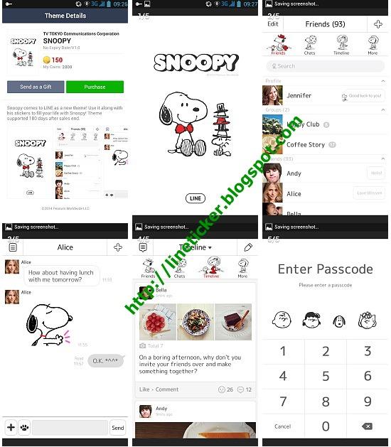 สติ๊กเกอร์ไลน์ ถูกที่สุด Line Sticker Shop: Line Theme SNOOPY