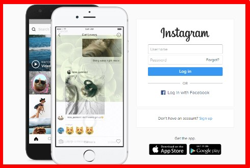 sign in instagram using facebook account
