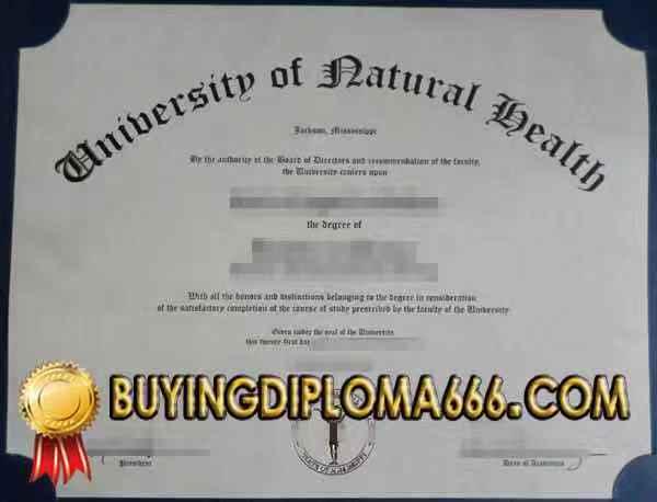 Hi everyone: University of Natural Health fake diploma, Get