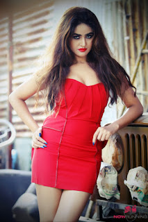 Sony Charista Red Dress Recent Photos