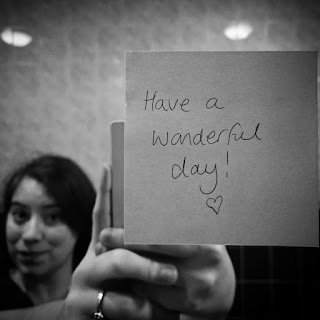 Have a wonderful day note