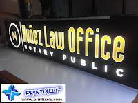 Lighted Panaflex Signage