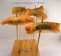 langostinos crujientes de albahaca