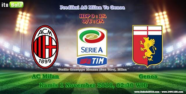 Prediksi AC Milan Vs Genoa - ituBola