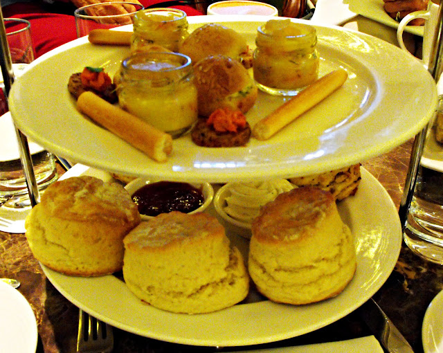 scones with jam and cream plus savouries