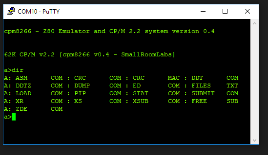 GoJimmyPi: Building Z80 Emulator for CP/M on ESP8266 with a