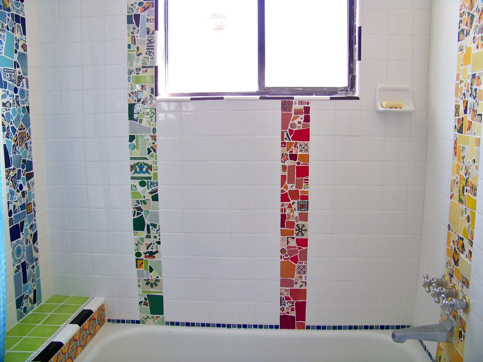 DIY Mosaic Bathroom Tile