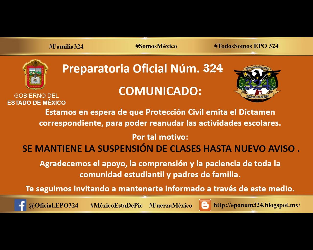 Escuela Preparatoria Oficial Núm. 324: 2017