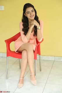 Rukshar Mir in a Peachy Deep Neck Short Dress 102.JPG