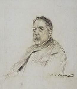 Pin i Soler dibujado por Ramón Casas
