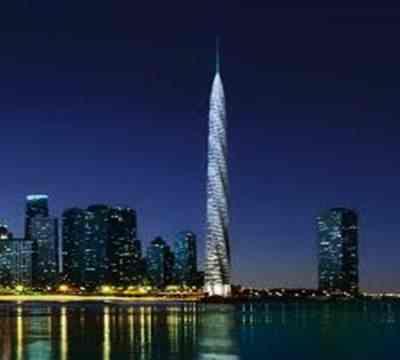 Gambar Chicago Spire menjadi gedung tertinggi ke-5 di dunia