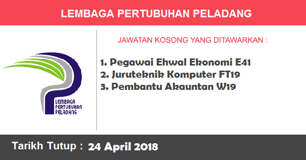 Jobs in Lembaga Pertubuhan Peladang (24 April 2018)