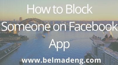 How to Block Someone on Facebook App