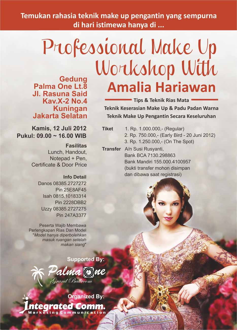 Professional Make Up Artist: Integrated Comm.: PROFESSIONAL MAKE UP WORKSHOP WITH