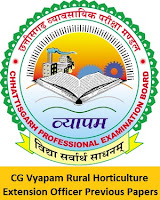 CG Vyapam Rural Horticulture Extension Officer Previous Papers