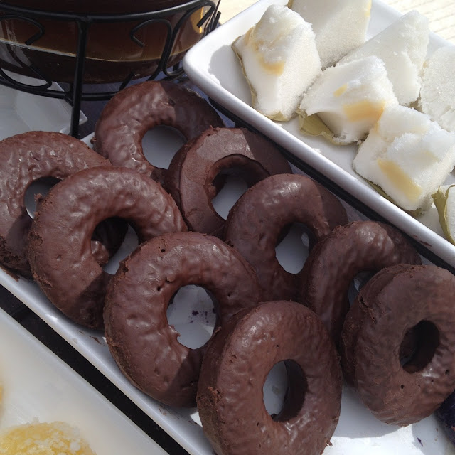 Donuts and rice cakes at the Purple Craves dessert buffet
