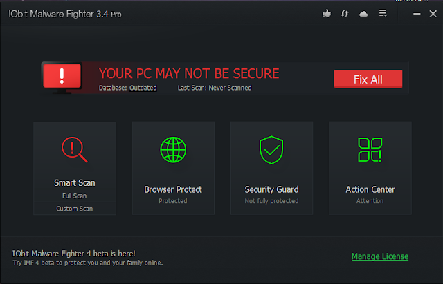 iobit malware fighter pro serial key free download