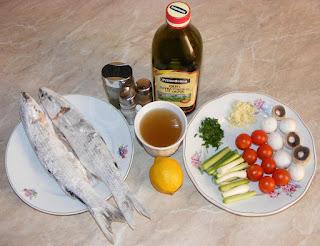 peste chefal, ciuperci, rosii, ardei, ceapa verde, usturoi verde, retete cu, retete culinare,