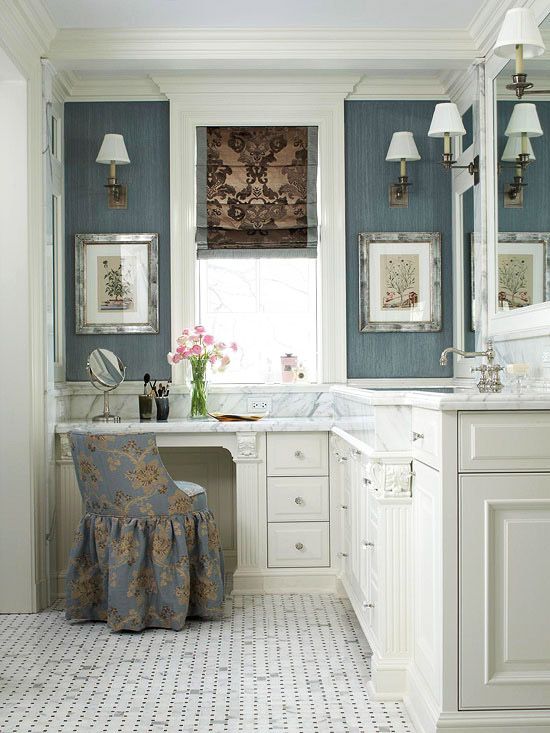 New Home Interior Design: Bathroom Makeup Vanity Ideas on Small Area Bathroom Ideas  id=23737