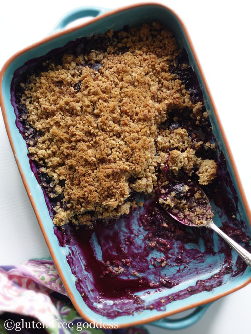 Gluten-Free Goddess- New Blueberry Crisp Recipe