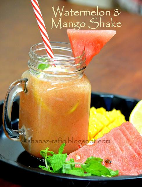 Watermelon and Mango Shake