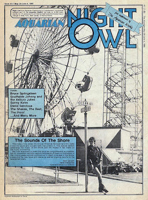 Aquarian newspaper front cover June 1980. This and the EC Rocker newspaper were how we found where all our favorite bands were playing!
