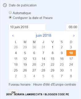 Définir/Planifier/Modifier la date d'un article spécifique