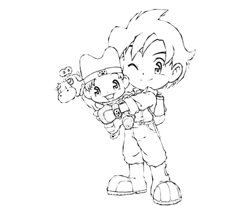 gamecube harvest moon coloring pages - photo #25