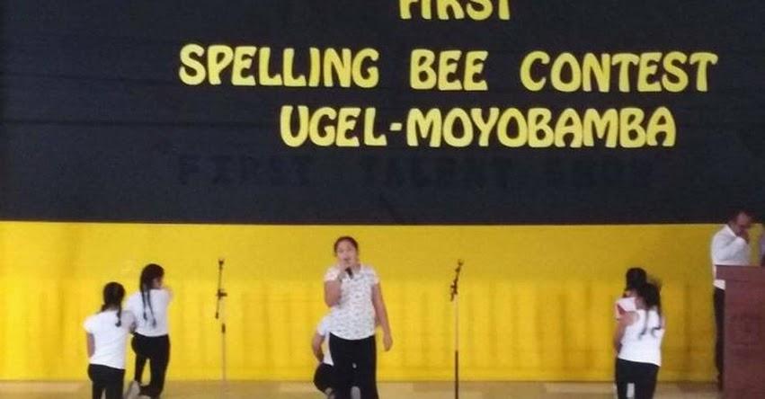 DRE San Martín: Estudiantes de 15 colegios de Moyobamba participaron en concurso de deletreo en inglés. - www.dresanmartin.gob.pe
