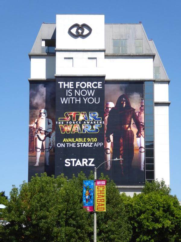 Giant Star Wars Force Awakens Starz billboard