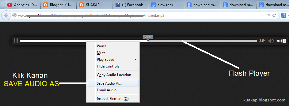 Cara Download Lagu MP3 Yang Ada Di Flash Player Dengan Mudah Tanpa Menggunakan Software / Tools