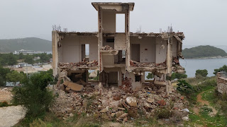 Ksamil demolished hotel, Albania