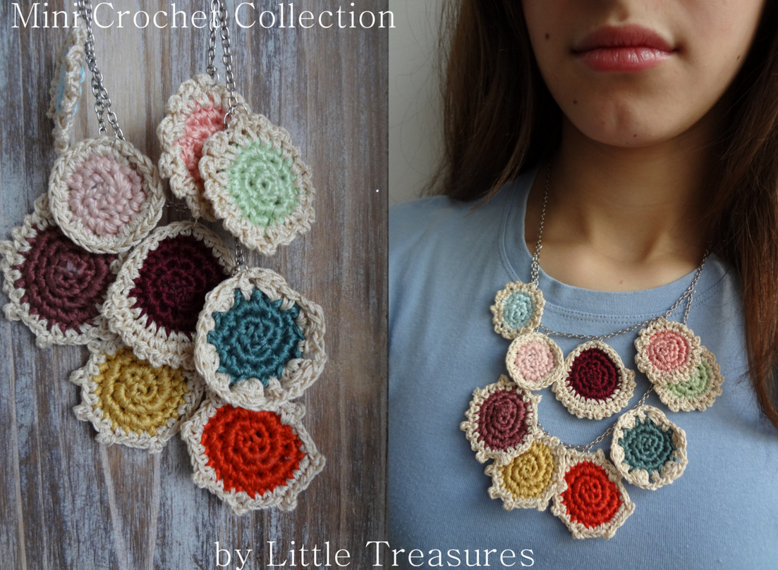 Free Crochet Patterns For Mini Doilies : Little Treasures: Crochet Mini Doilies {Necklace and ...