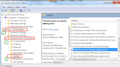 Prevent Access to Registry Editing Tool