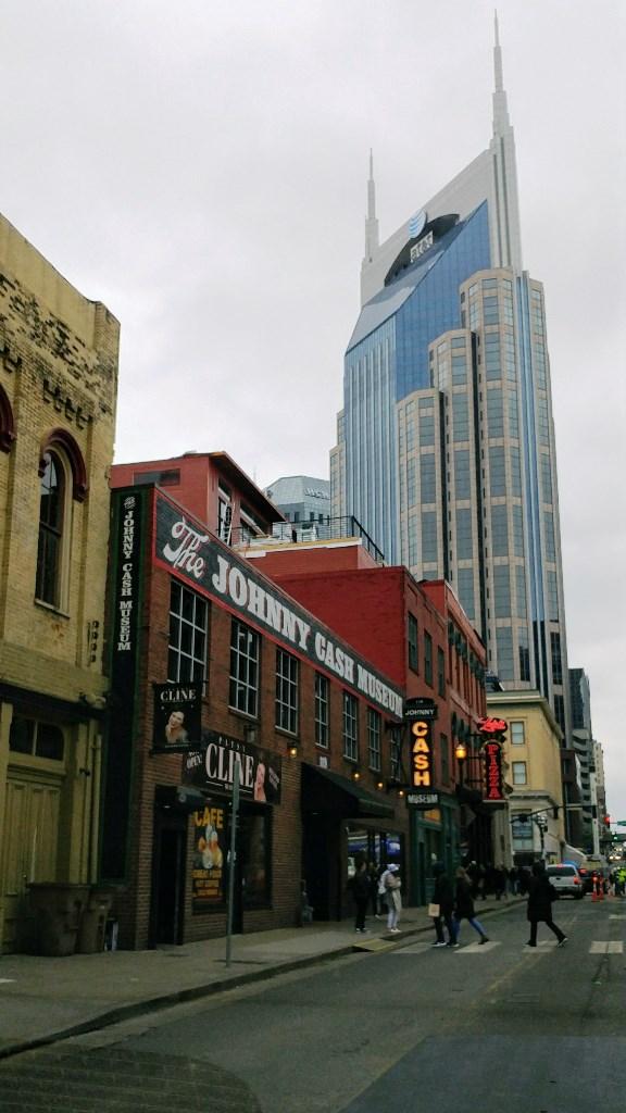 The Johnny Cash Museum and Batman Building 3rd Ave. S. Nashville
