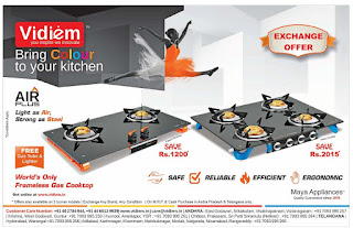 India's first frame less Gas stove offers in Hyderabad