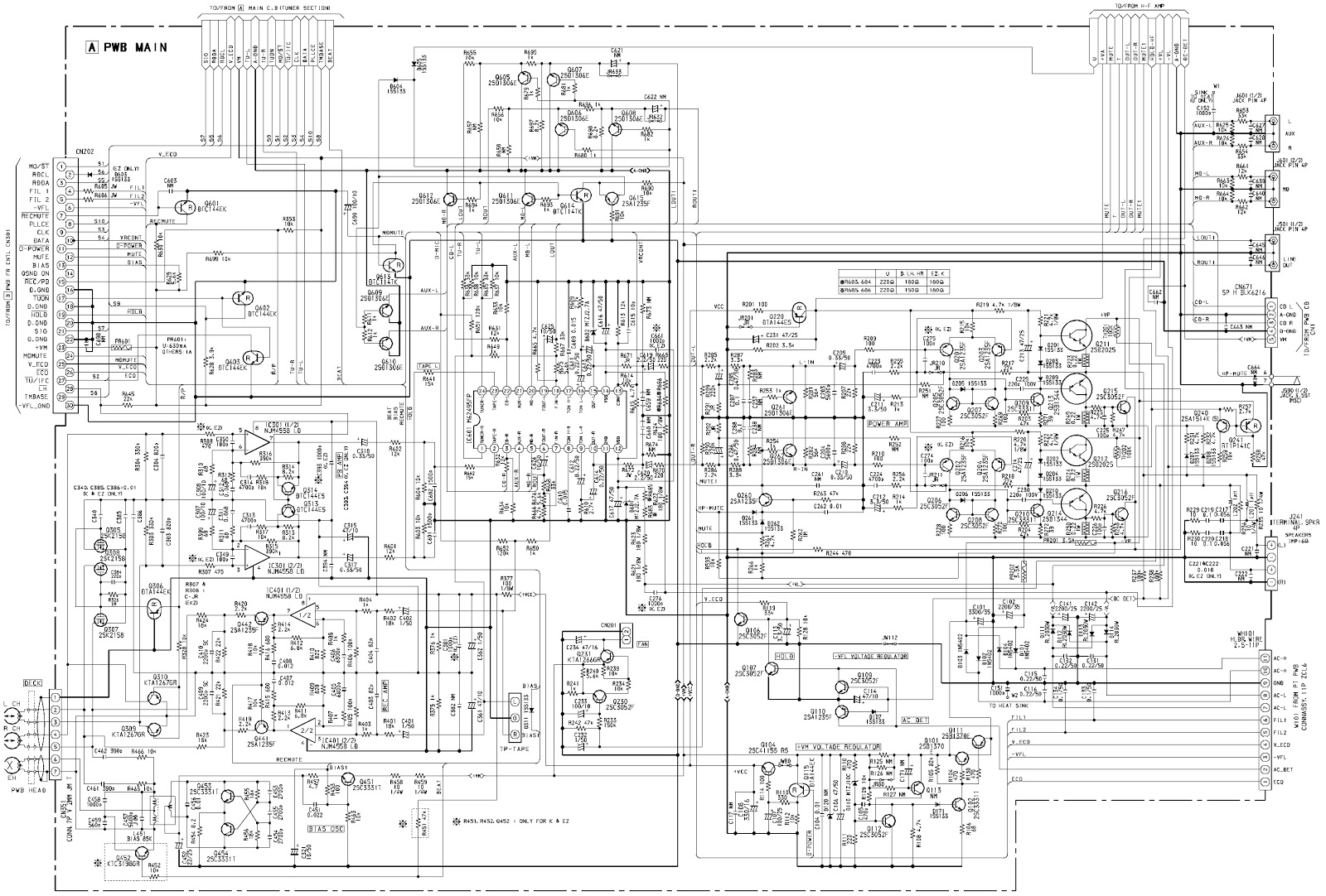 Aiwa Xr M55 Compact Disc Stereo System Schematic Diagram