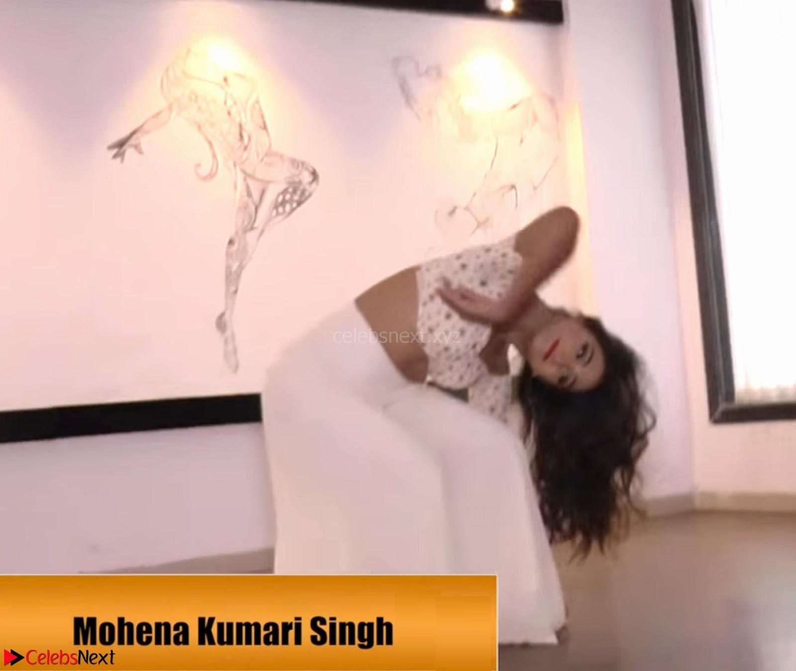 Mohena Kumari Singh actress from tv show yeh Rishta Kya Kehlata Hei in White Choli ~ CelebsNext Exclusive