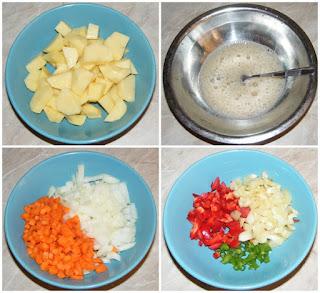 legume preparate pentru ciorba de casa, retete cu legume, preparate din legume, retete culinare, ceapa, morcovi, cartofi, ardei,