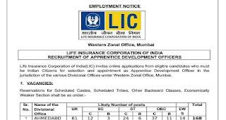 LIC ADO Recruitment Notification 2019