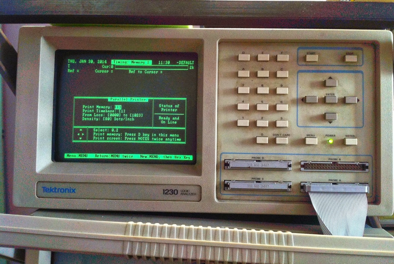 Tektronix 1230 Logic Analyzer Toughdev Block Diagram I Got Mine From Ebay Still In Good Condition After All These Years The Crt Is Working Well And Bright With No Burned Marks That Are Typical Of Old