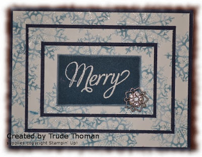 triple layer, Christmas card, Snowflake Soiree, Stamp with Trude, Stampin' Up!
